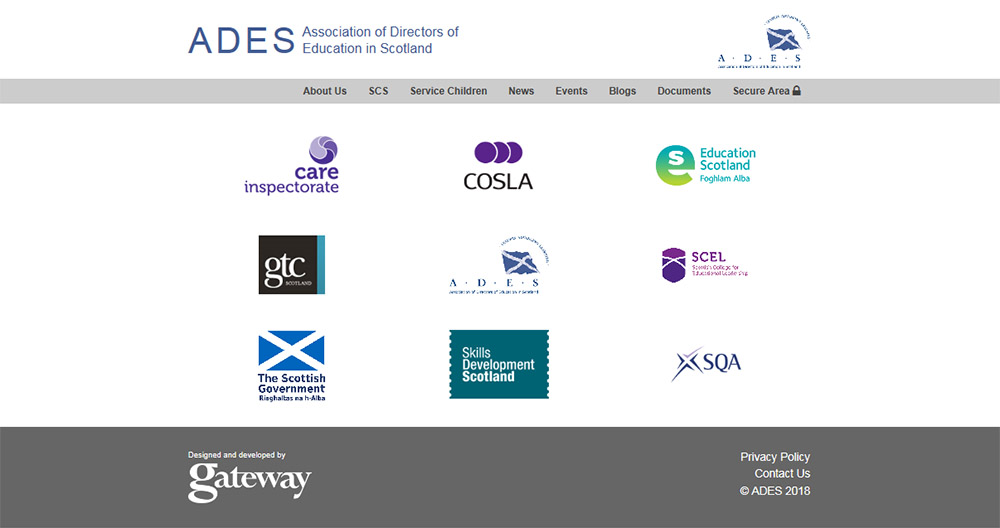ADES Scotland website screenshot